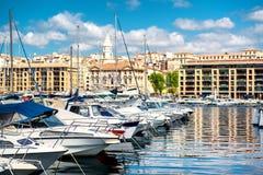 Vecchio porto di Marsiglia Immagine Stock