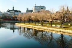 Vecchio porto di Montreal Immagine Stock Libera da Diritti