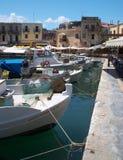 Vecchio porto di Rethymno Fotografie Stock Libere da Diritti