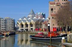 Vecchio porto di Rotterdam Fotografia Stock Libera da Diritti