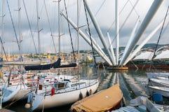 Vecchio porto a Genova Fotografia Stock Libera da Diritti