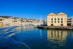 Vecchio porto, Genova fotografia stock