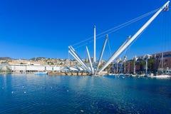 Vecchio porto, Genova fotografie stock