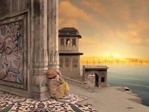 Vecchio porto indiano Fotografia Stock Libera da Diritti