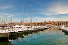 Vecchio porto Marsiglia Fotografie Stock Libere da Diritti