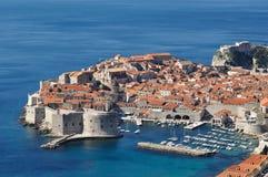 Vecchio porto murato della città di Dubrovnik Fotografia Stock Libera da Diritti