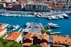 Vecchio porto piacevole della città Fotografia Stock Libera da Diritti