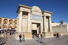 Vecchio portone della città di Cordova, Spagna Fotografia Stock Libera da Diritti