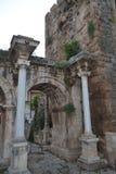 Vecchio portone di Antalia della città Immagine Stock