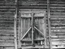vecchio portone di legno d'annata Immagine Stock