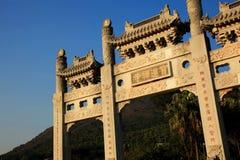 Vecchio portone di pietra a Hong Kong Immagine Stock Libera da Diritti