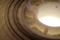 Vecchio positivo una striscia di pellicola da 16 millimetri su fondo bianco Fotografia Stock Libera da Diritti