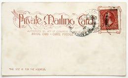Vecchio postcard.jpg Immagine Stock