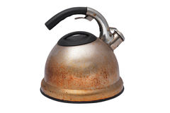 Vecchio POT arrugginito del tè Immagine Stock Libera da Diritti