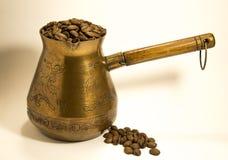 Vecchio POT del caffè Fotografia Stock