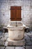 Vecchio pozzo d'acqua Cattaro Fotografia Stock Libera da Diritti