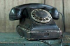 Vecchio primo piano del telefono Immagine Stock