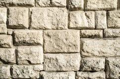 Vecchio primo piano della parete di pietra Immagini Stock Libere da Diritti