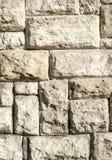 Vecchio primo piano della parete di pietra Fotografie Stock Libere da Diritti