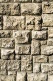 Vecchio primo piano della parete di pietra Immagini Stock