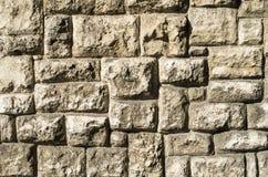 Vecchio primo piano della parete di pietra Immagine Stock