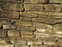 Vecchio primo piano della parete di pietra Fotografia Stock
