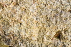 Vecchio primo piano della roccia nell'ambito di luce solare luminosa Fotografie Stock