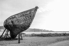 Vecchio primo piano di legno della barca Fotografia Stock
