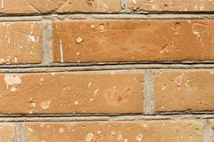 Vecchio primo piano rosso del muro di mattoni come fondo e struttura Copi il testo dello spazio Immagini Stock Libere da Diritti