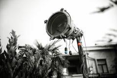 Vecchio proiettore arrugginito fotografia stock