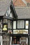 Vecchio pub della testa del Queens. Chester. L'Inghilterra Fotografia Stock