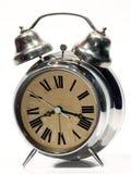 Vecchio quadrante di marrone del briciolo dell'orologio di Siver Fotografie Stock Libere da Diritti