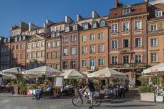 Vecchio quadrato del mercato della città di Varsavia fotografia stock