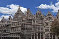 Vecchio quadrato del mercato di Anversa   Fotografia Stock
