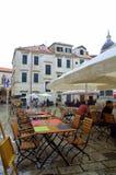 Vecchio quadrato di città di Ragusa Fotografie Stock