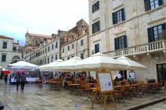 Vecchio quadrato di città di Ragusa Fotografia Stock Libera da Diritti