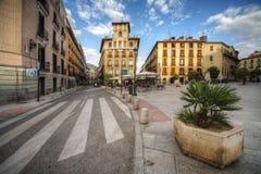 Vecchio quadrato nella città di Madrid Fotografia Stock Libera da Diritti