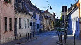Vecchio quarto, Sibiu, la Transilvania, Romania Fotografia Stock Libera da Diritti