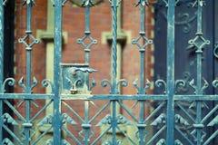 Vecchio recinto del metallo Fotografia Stock