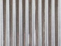 Vecchio recinto di alluminio grigio Fotografia Stock Libera da Diritti
