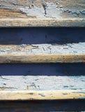 Vecchio recinto di legno con pittura Fotografia Stock
