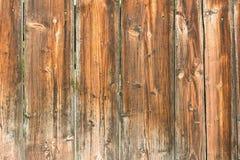 Vecchio recinto di legno del bordo Fotografia Stock Libera da Diritti