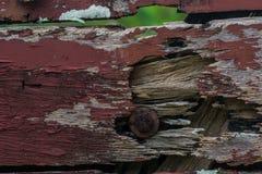Vecchio recinto fatto di legno Fotografia Stock