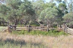 Vecchio recinto per il bestiame Fotografia Stock Libera da Diritti
