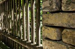 Vecchio recinto tagliato piacevole Immagini Stock Libere da Diritti