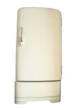 Vecchio refrigeratore Immagini Stock Libere da Diritti