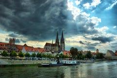 Vecchio Regensburg, Baviera, Germania, eredità dell'Unesco Fotografia Stock Libera da Diritti