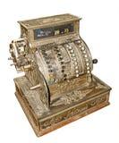 Vecchio registratore di cassa antico Immagini Stock Libere da Diritti