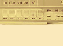 Vecchio registratore di nastro fotografia stock