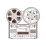 Vecchio registratore di nastro della bobina Immagine Stock Libera da Diritti